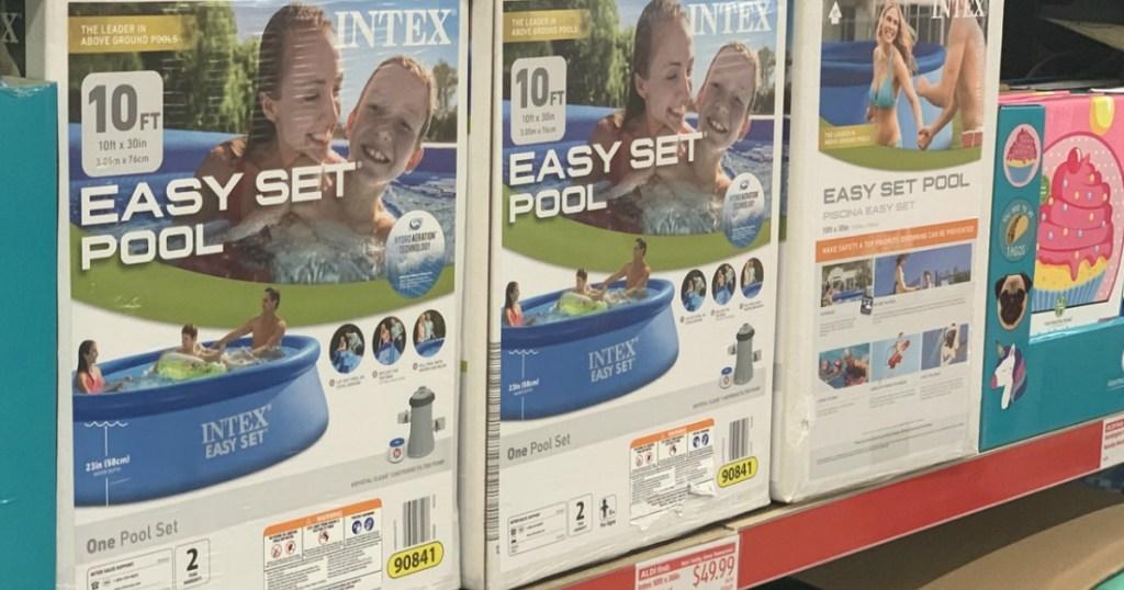 Intex Easy Set Pool on ALDI shelf