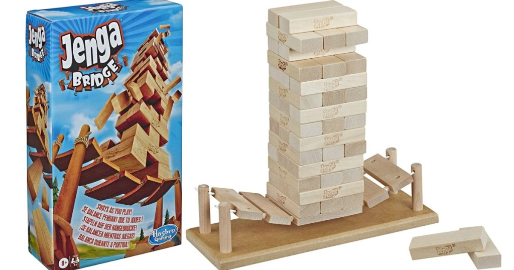 Jenga Bridge game and box