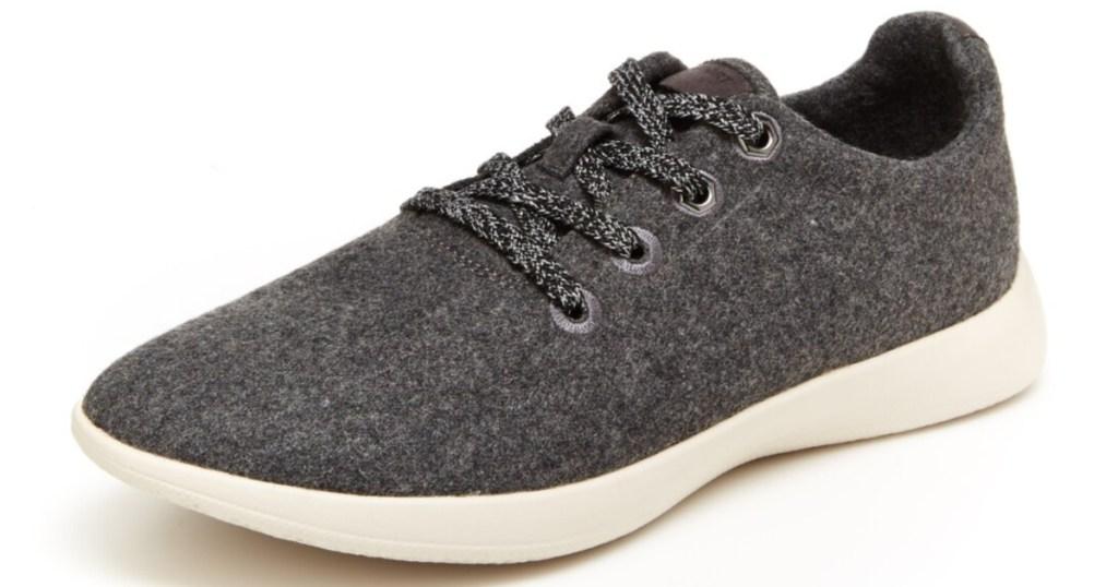 men's grey wool casual shoe