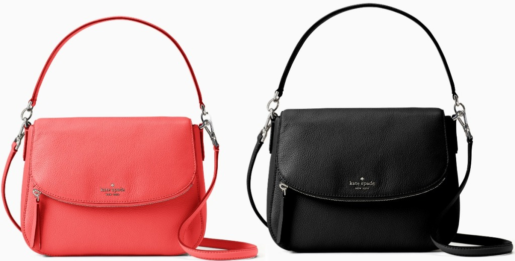 Two colors of shoulder bags with handles