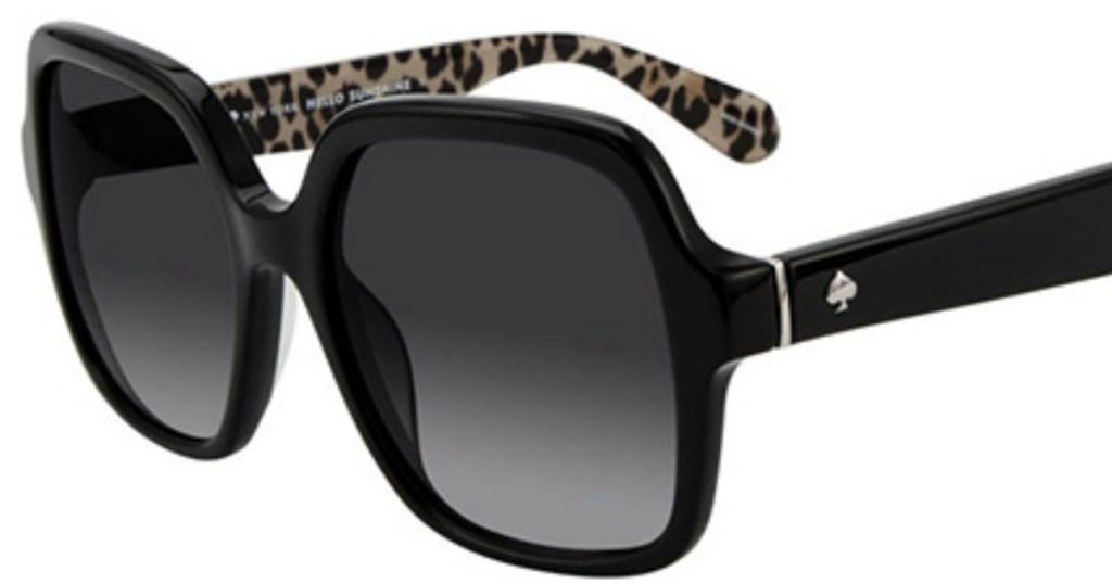 black and leopard print sunglasses
