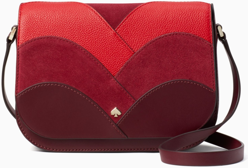 red and magenta purse