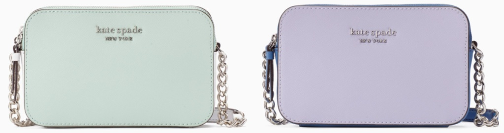kate spade mint and lavender bags