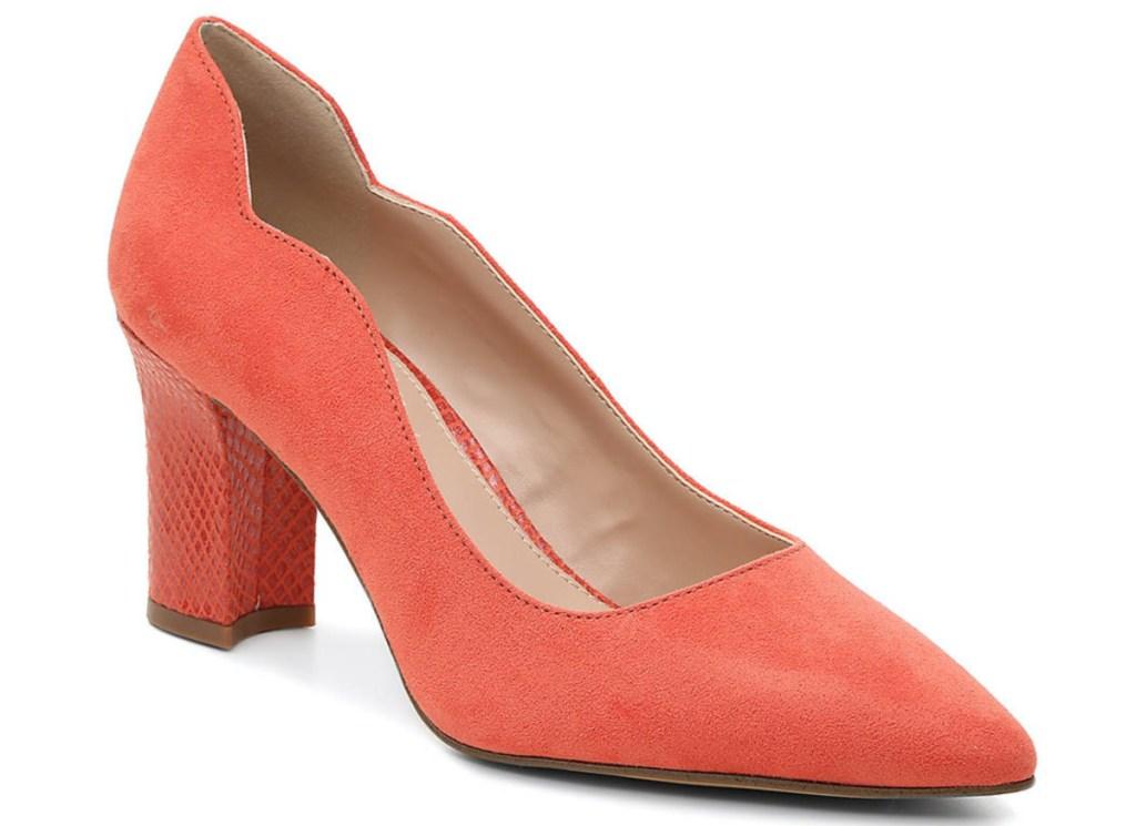 women's orange pump