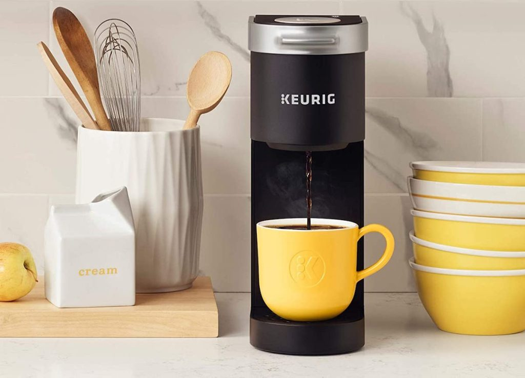 Keurig K-Mini on counter with other kitchen items