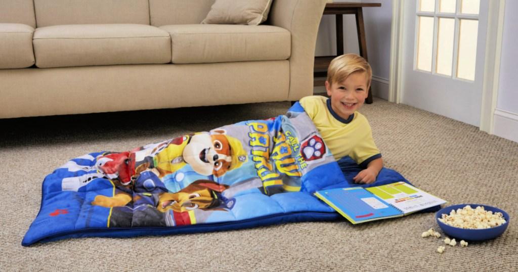 Kids Character Weighted Blanket Sleeping Bag