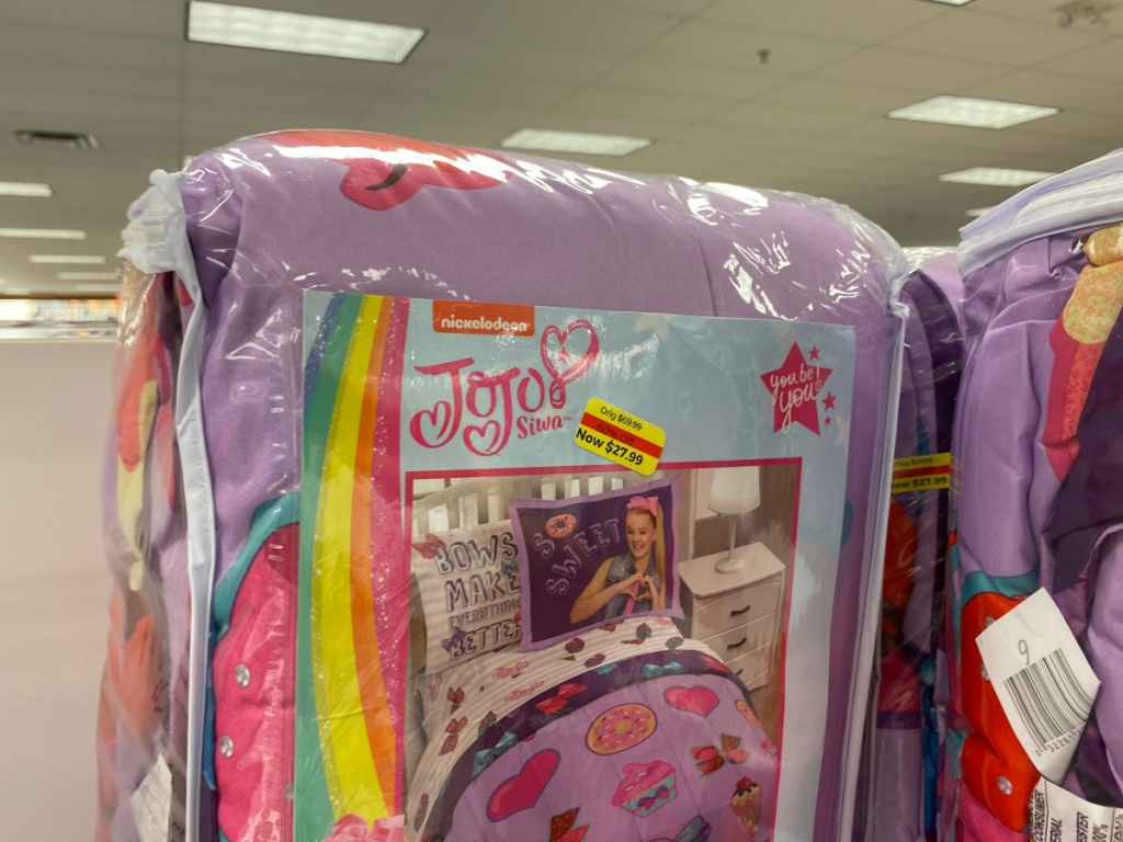 jojo siwa bedding on store shelf