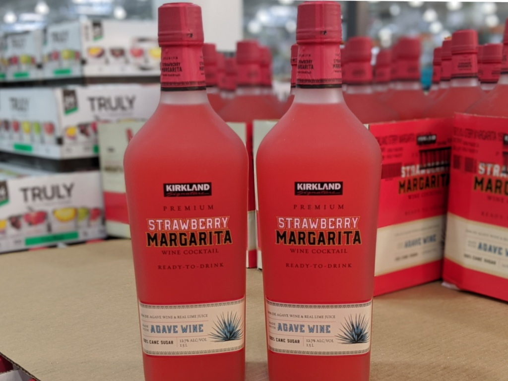 Kirkland Ready To Drink Strawberry Margarita 1 5l Bottle Only 8 99 At Costco