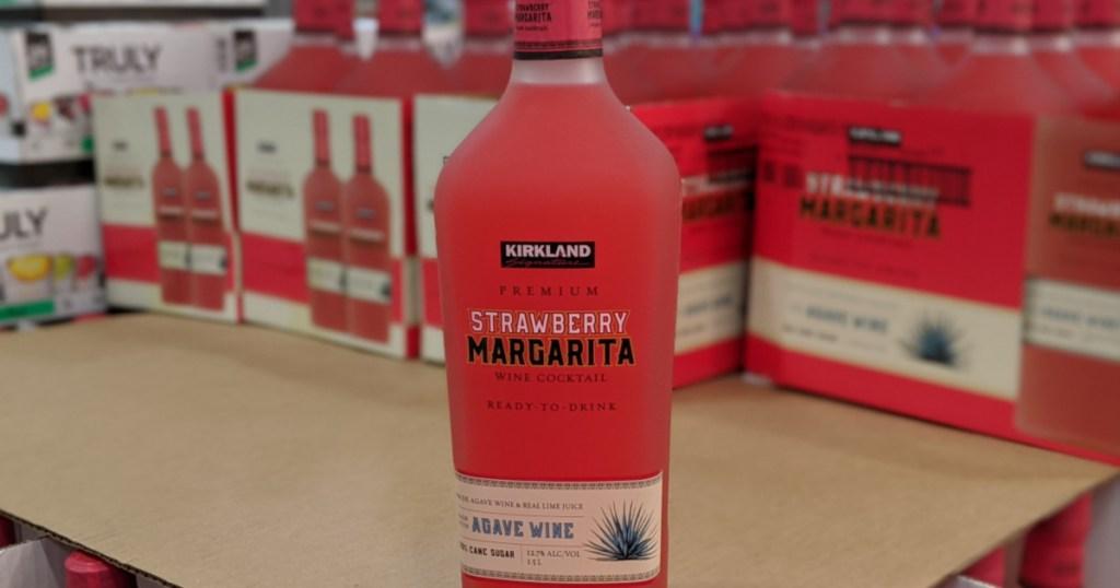 bottle of strawberry margarita in store