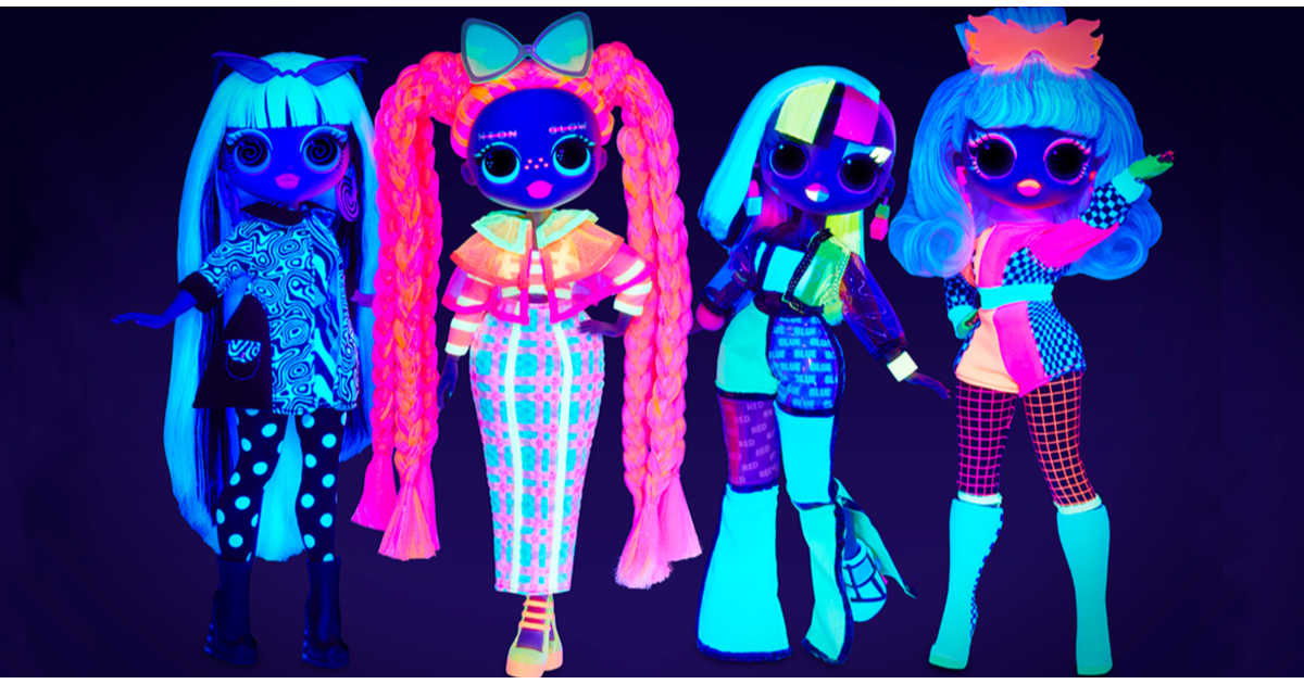 glow in the dark lol dolls
