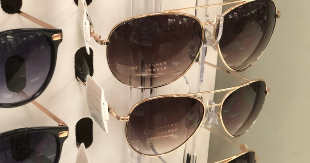 woman's sunglasses on display