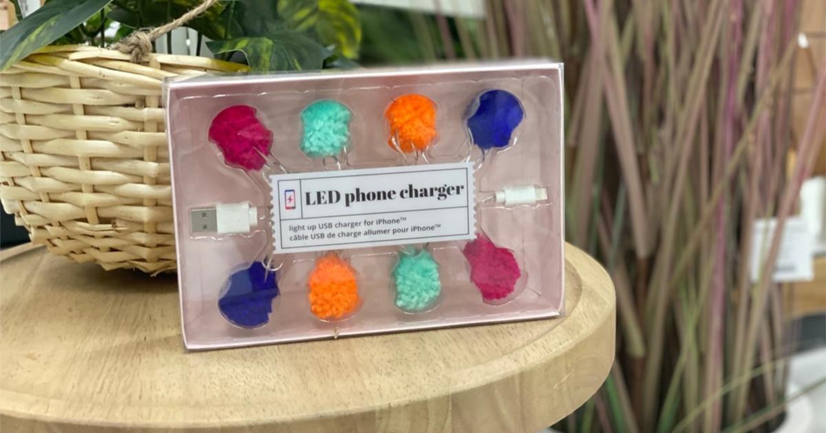 LED pom pom charger at Target