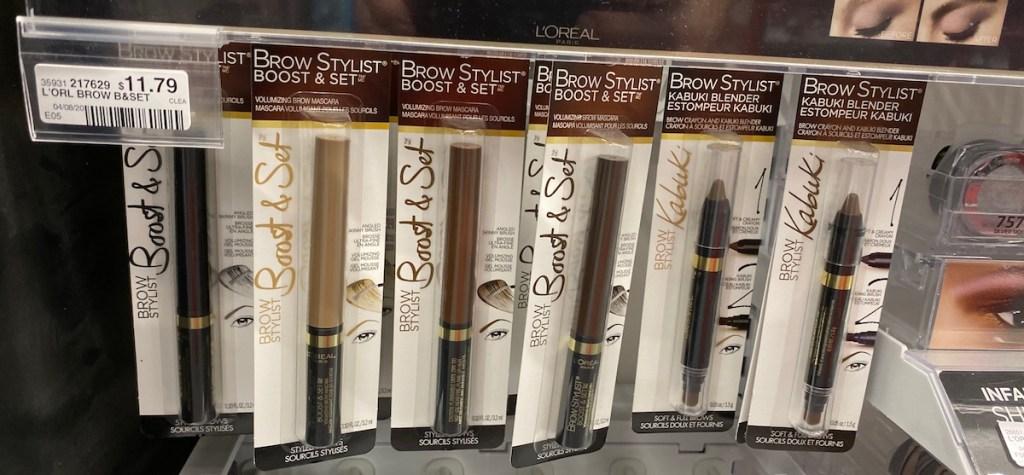L'Oreal Brow Set on display