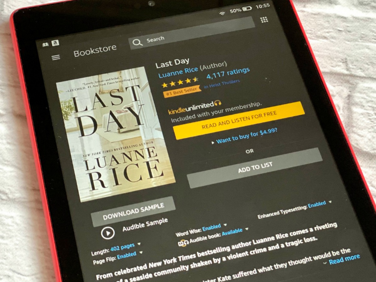 Last day on kindle device