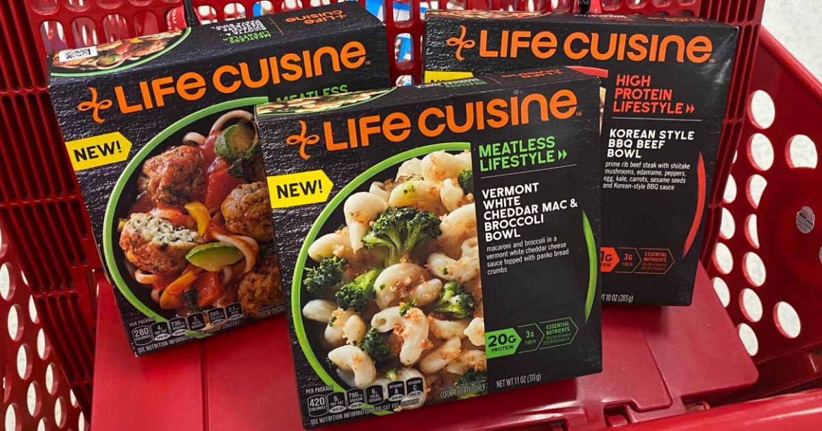 Life Cuisine Bowls in Target cart