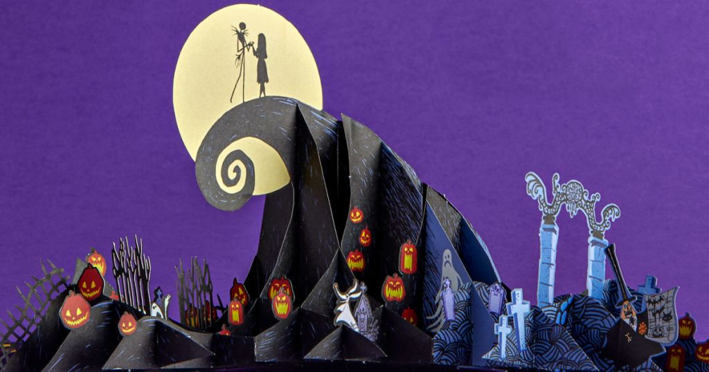3D nightmare before Christmas card