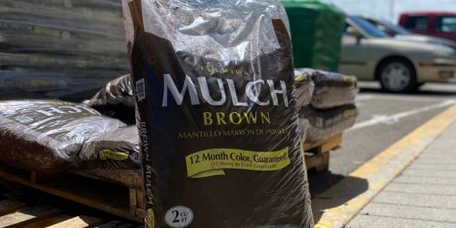 Premium Hardwood Mulch Only $2 at Lowe's | In-Store Only