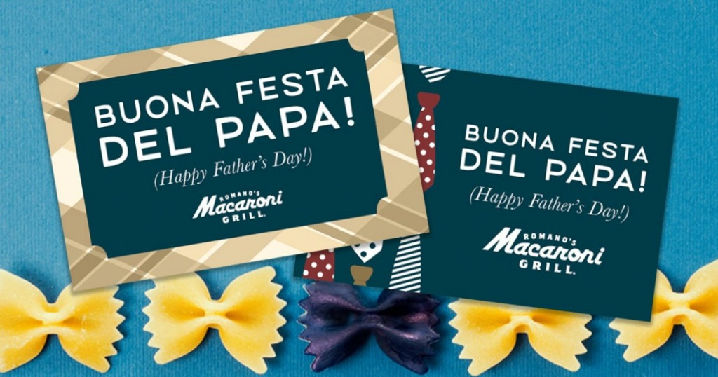 two Macaroni Grill gift cards