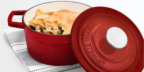 Martha Stewart Collection Cast Iron Dutch Oven Only $29.99 Shipped on Macys.com (Regularly $100)