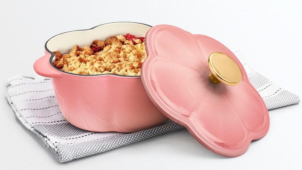 Martha Stewart Dutch Oven with pie in it