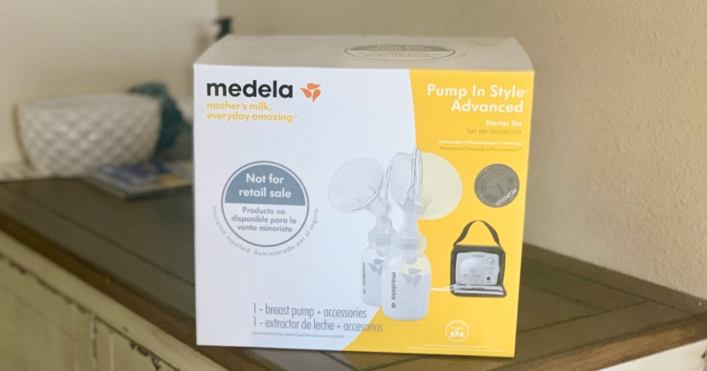 Medela Breast Pump box on counter top