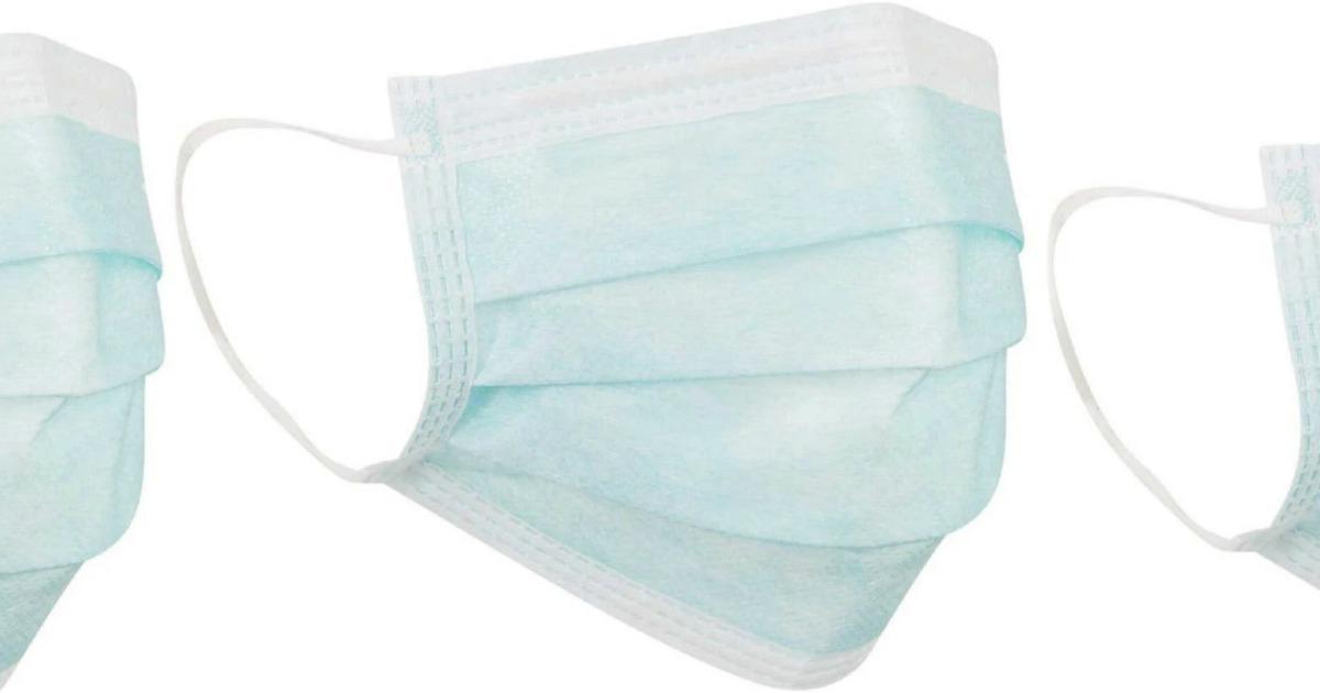 Light blue medical face mask