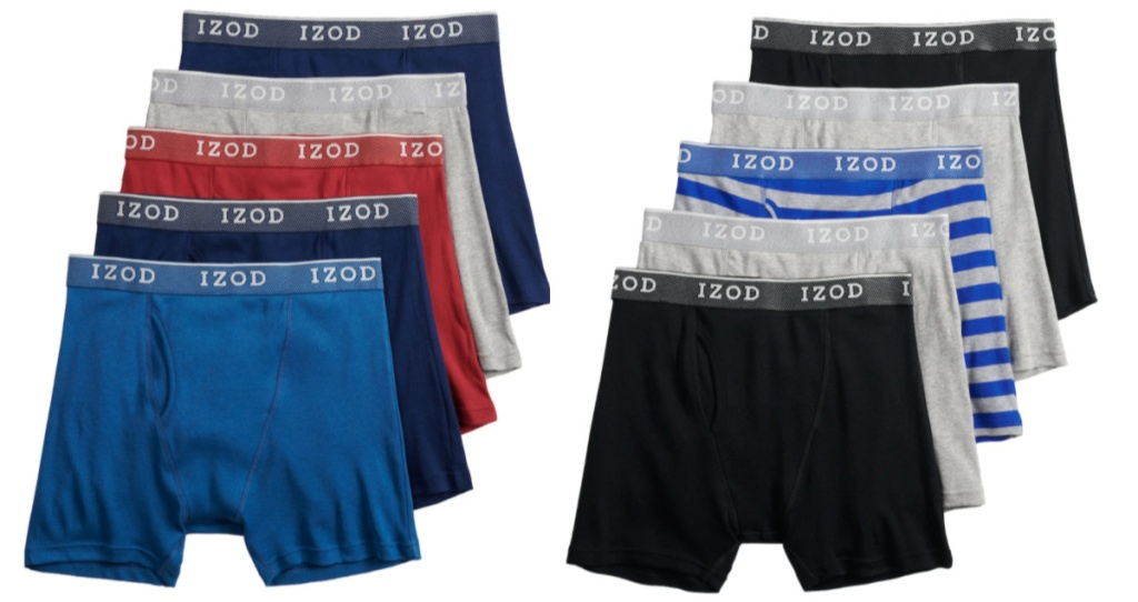 multiple pairs of multi-colored men's boxer briefs