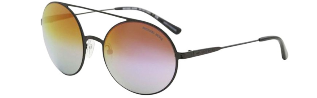round aviator style sunglasses with lenses in multi-colors