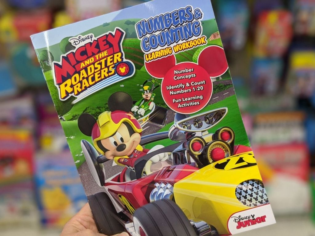 Mickey and the Roadster Races Numbers & Counting Learning Workbook