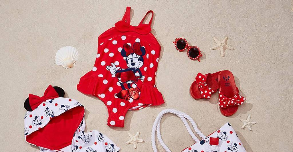 Minnie Mouse Swimsuit and Accessories