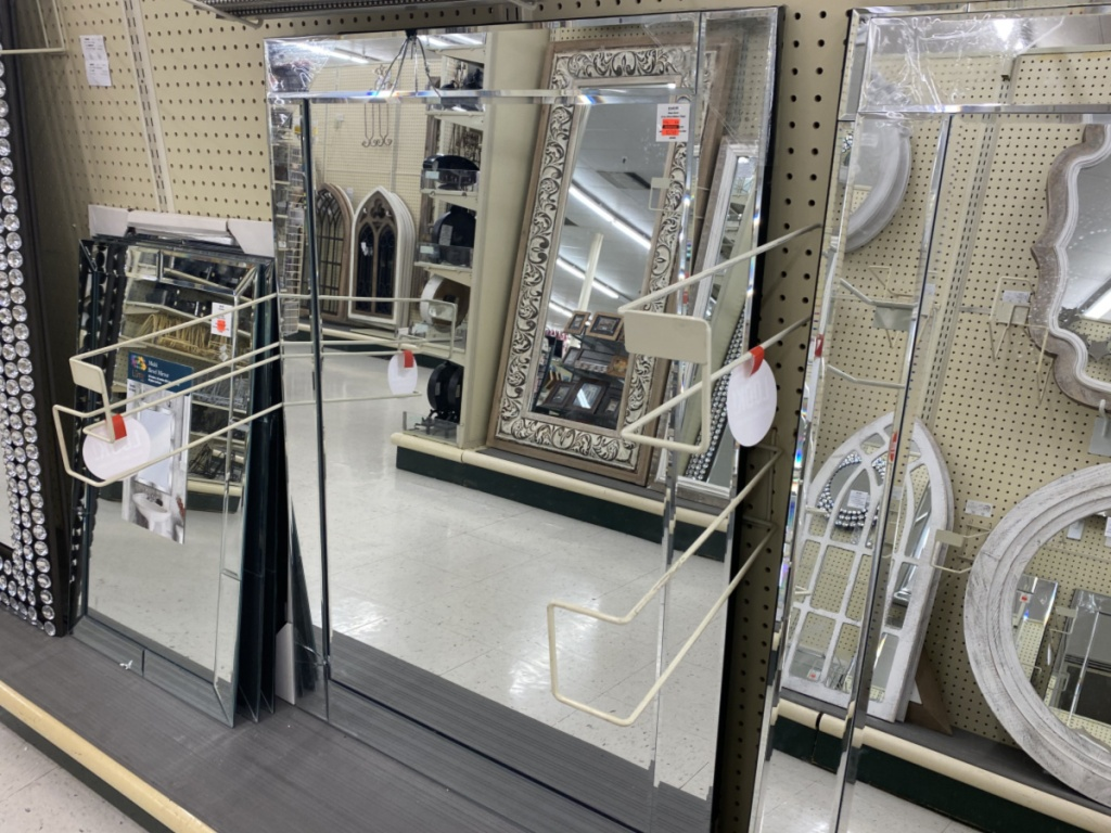 large wall mirror in store