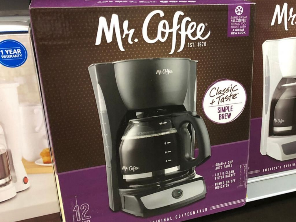 coffeemaker in box at store