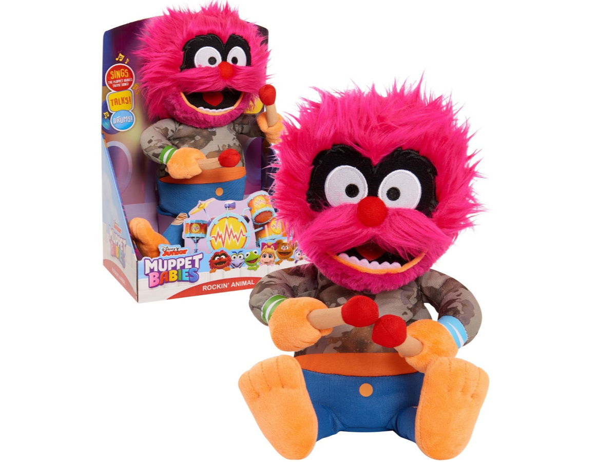 singing animated Muppet plush in package and outside of package