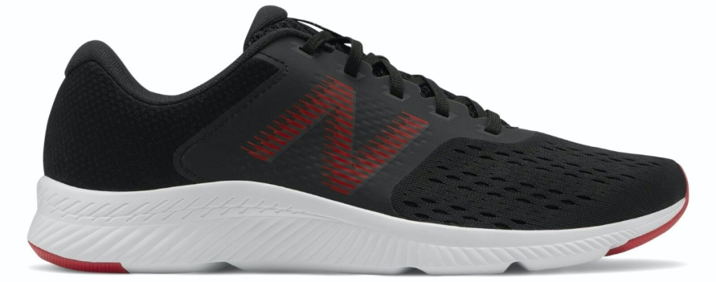 men's black and red sneaker