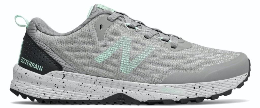 women's grey and light green sneaker