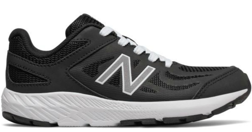 black and white New Balance kids shoes