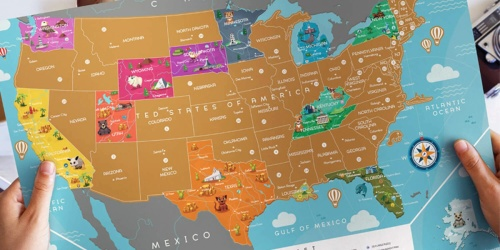 USA & World Scratch-Off Maps Only $14.99 Each Shipped (Regularly $50)