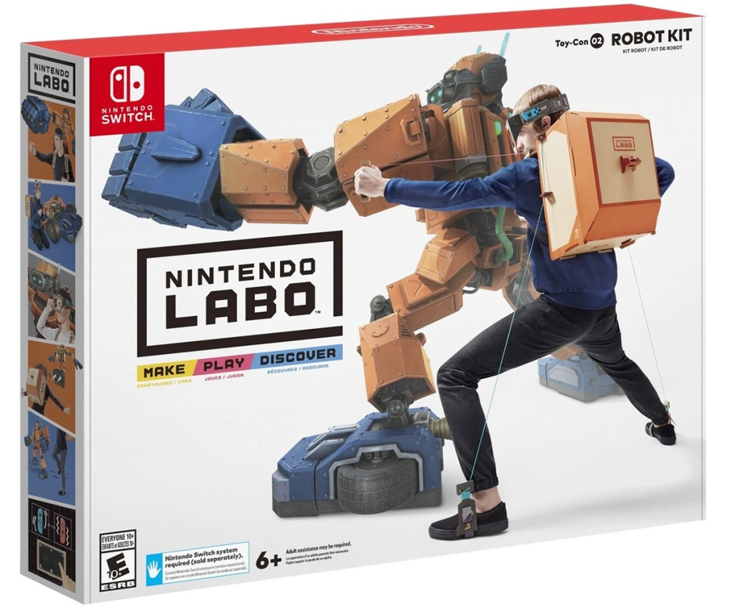 white and red box for the Nintendo Labo Robot Kit for Nintendo Switch