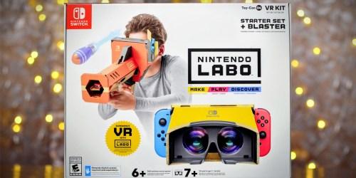 Nintendo Labo Toy-Con VR Kit Starter Set + Blaster Just $19.99 on BestBuy.com (Regularly $40)