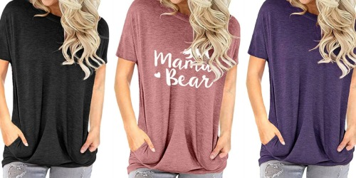 Women's T-Shirts w/ Pockets Only $12 on Amazon | Hundreds of 5-Star Reviews
