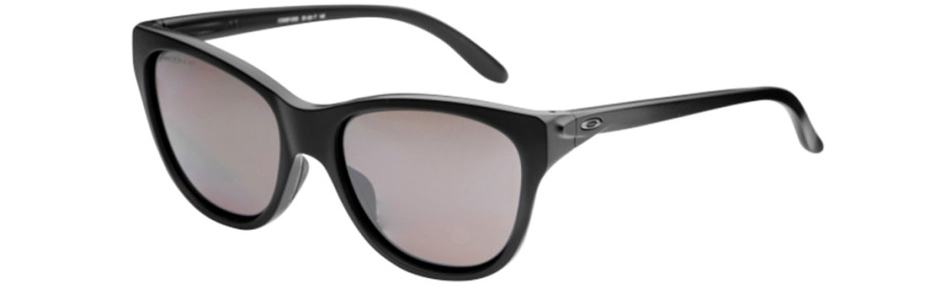 black oakley sunglasses with small oakley logo on side