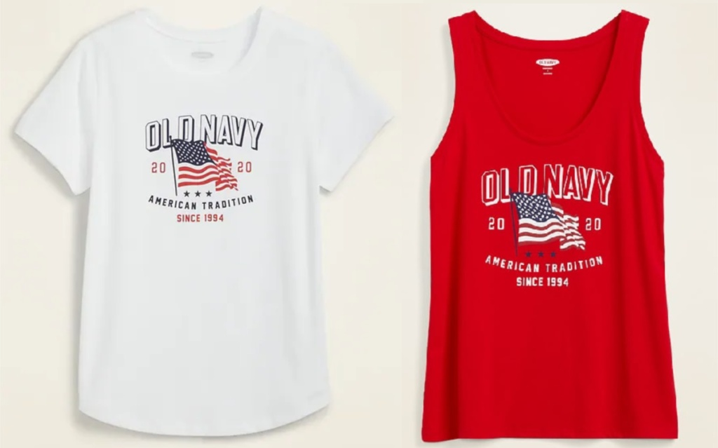 Old Navy Americana tees for women