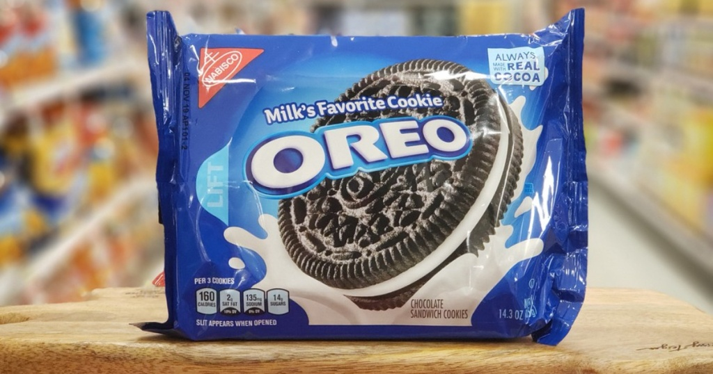 Oreo bag on display in store