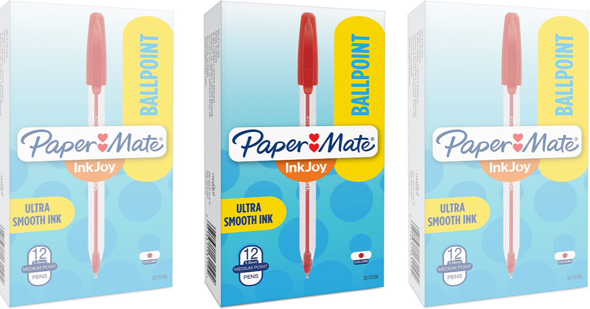 paper mate inkjoy red pen boxes
