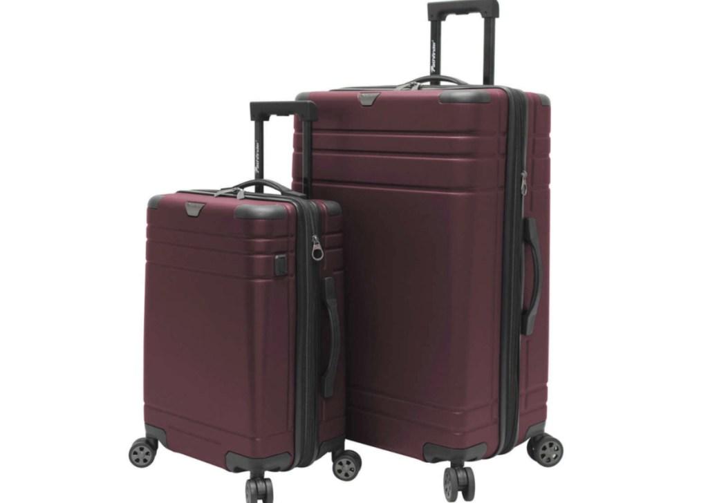 Pathfinder Explorer 2.0 2-piece Hardside Spinner Luggage Set in Red