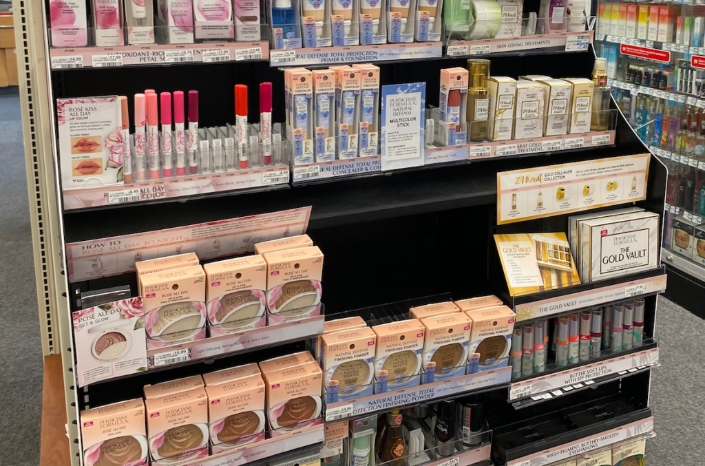 Physicians Formula Cosmetics display CVS