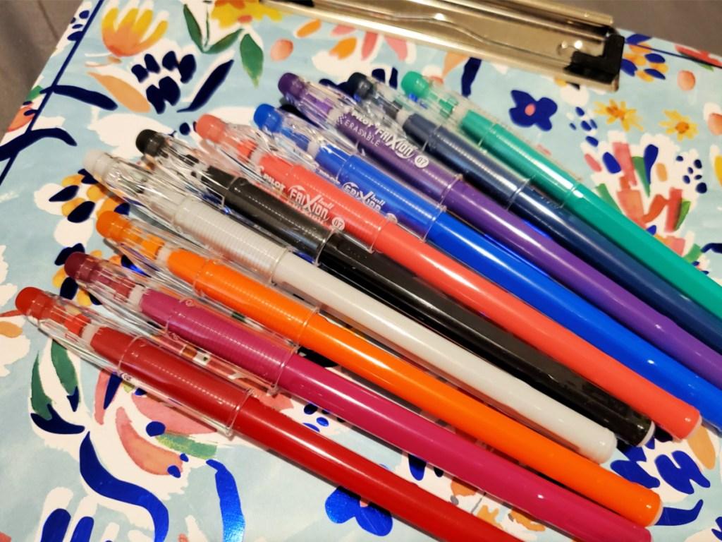 Pilot FriXion Erasable Gel Ink ColorSticks Pens 10-Pack