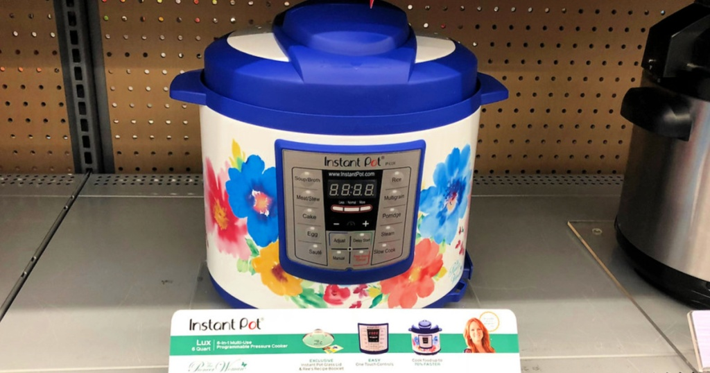 Pioneer Woman Instant Pot on shelf