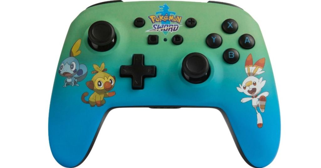 Nintendo Switch controller with Pokemon design on it