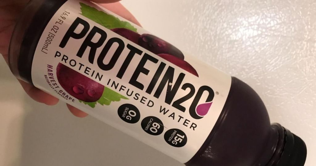 bottle of protein infused water